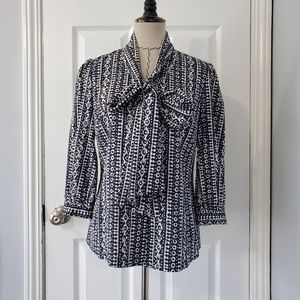 Tory Burch Tie Neck Blouse
